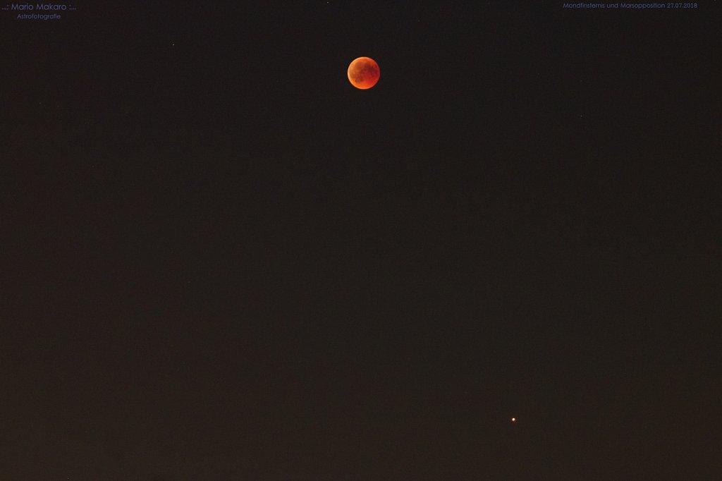 Mondfinsternis und Marsopposition 27.07.2018