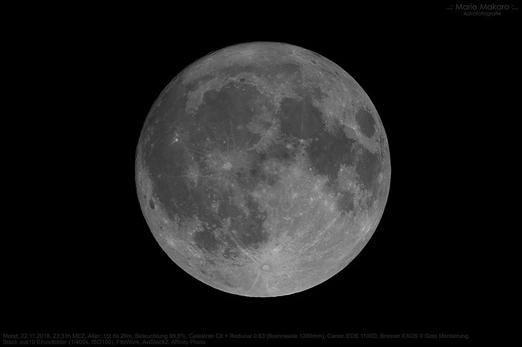 Mond vom 22.11.2018